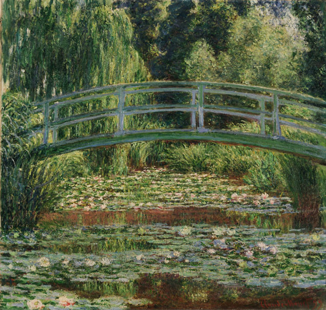 Claude Monet, Bridge over a Pond of Water Lilies, 1899.