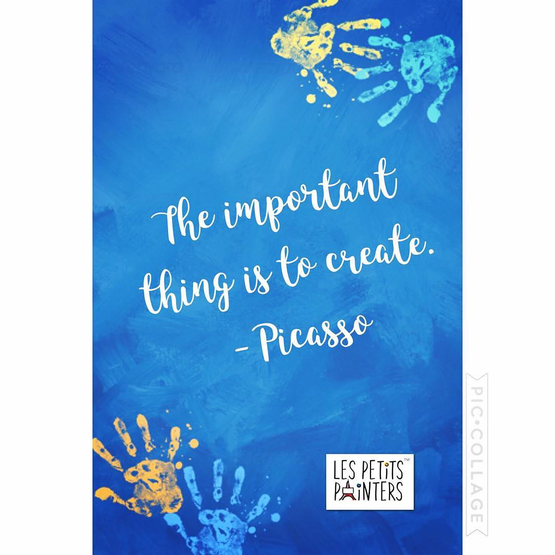 """The important thing is to create."" --Pablo Picasso"