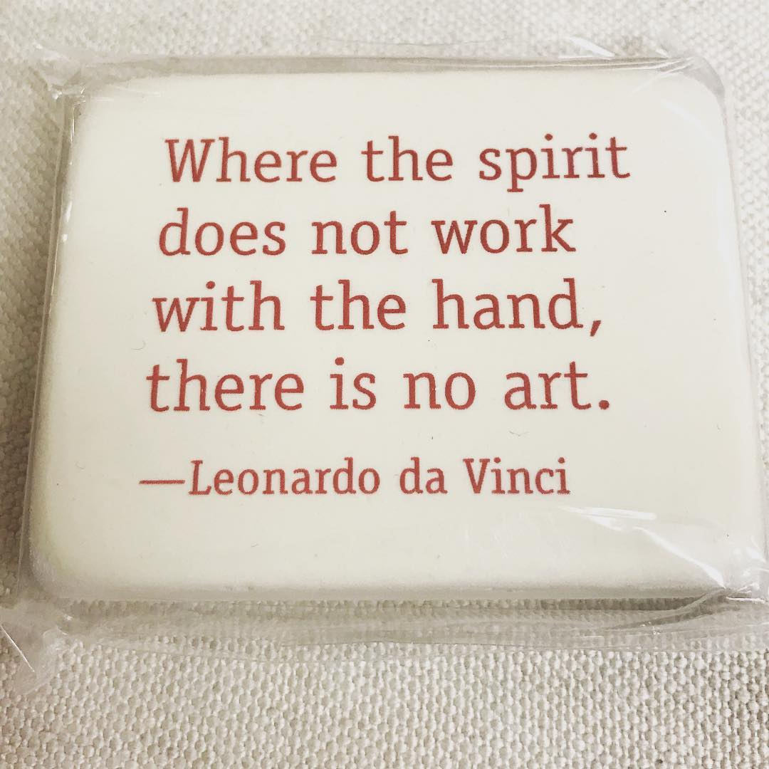 """Where the spirit does not work with the hand, there is no art."" --Leonardo da Vinci"