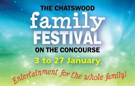 The Chatswood Family Festival on the Concourse promotional graphic | LesPetitsPainters.com.au