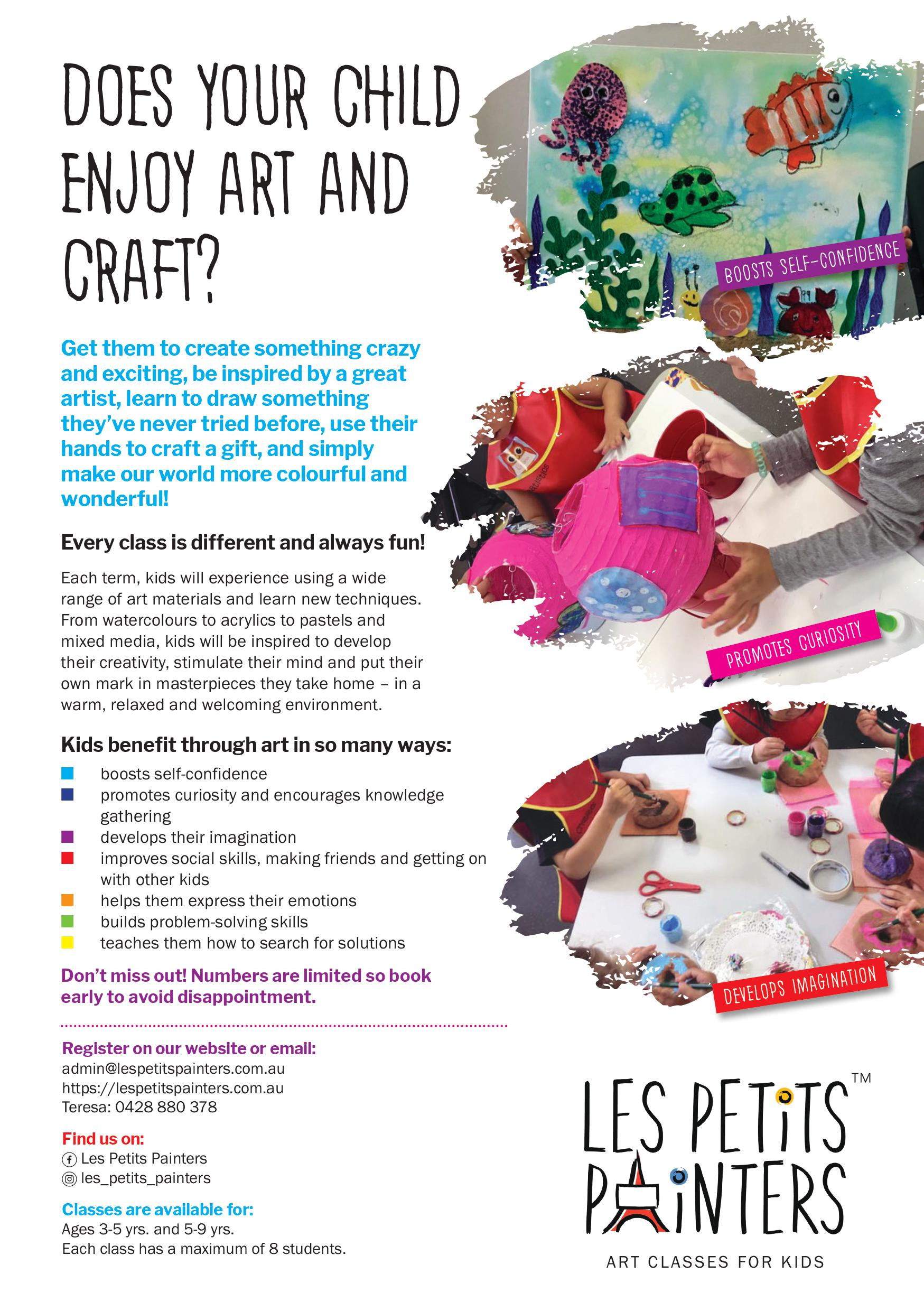 Art and craft classes for kids
