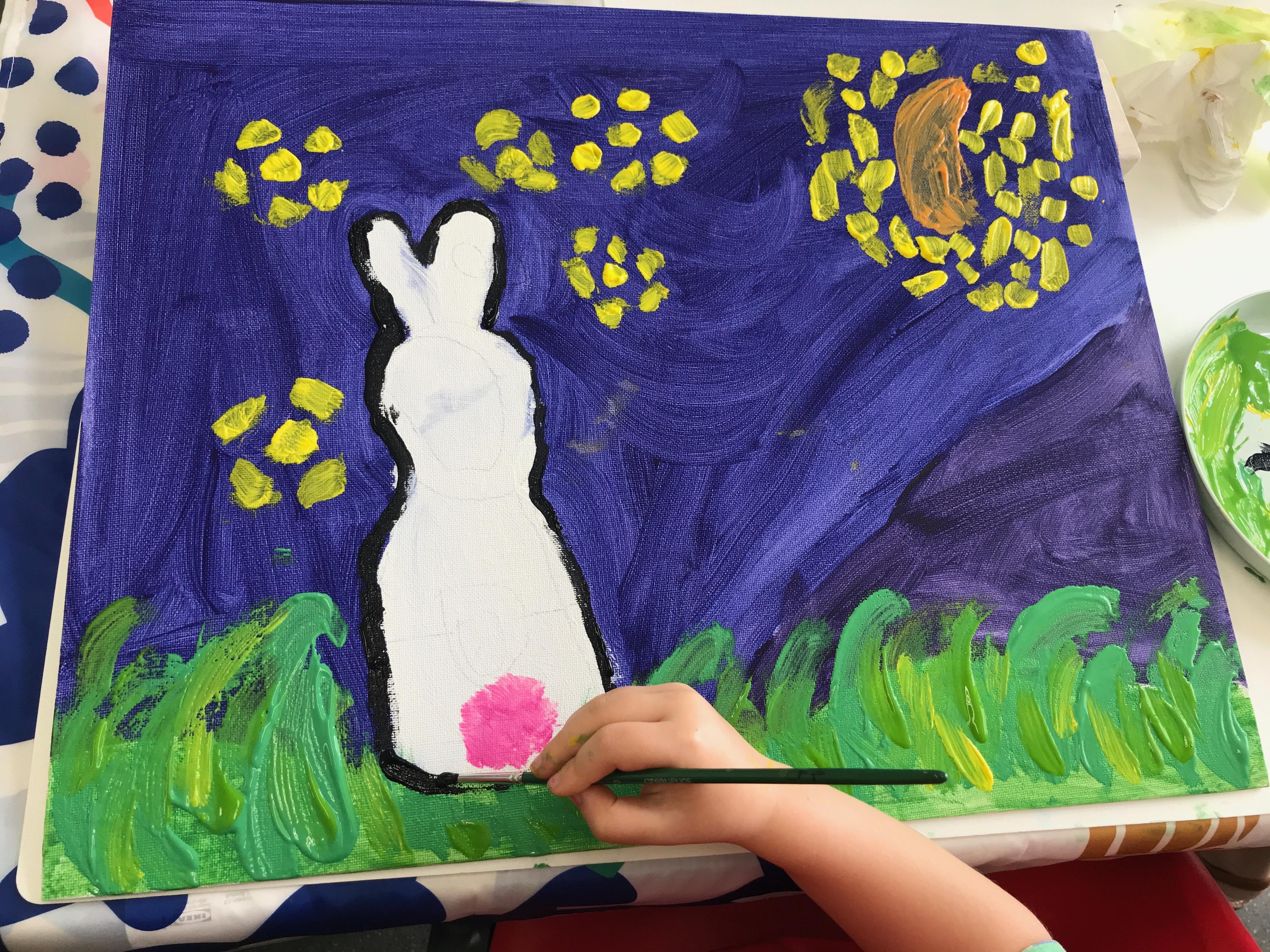 Les Petits Painters art classes for kids Sydney