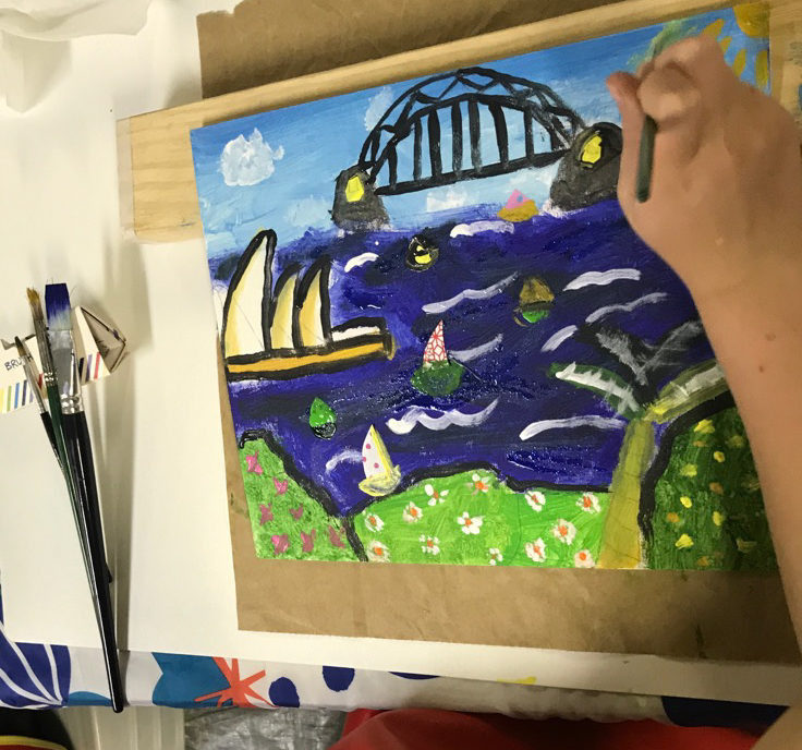 Art classes for kids Les Petits Painters contact form