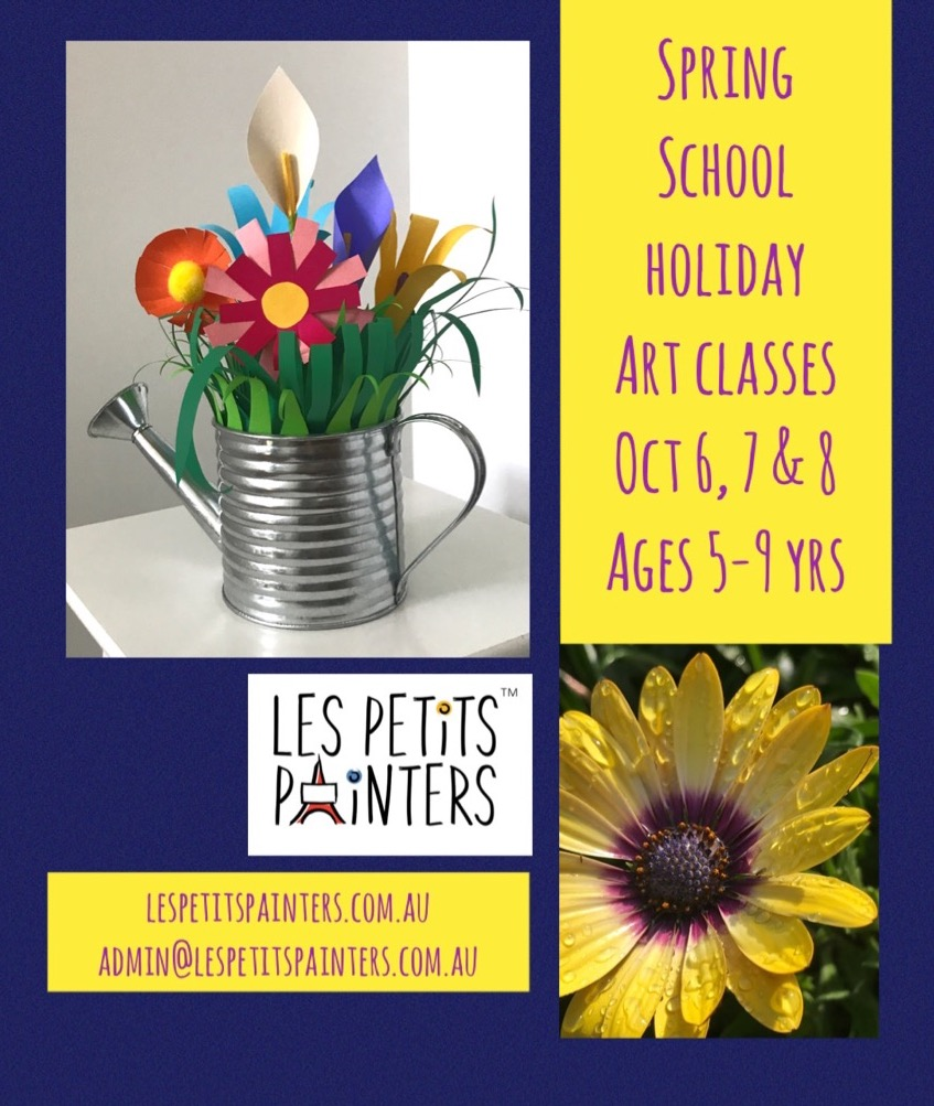 art classes in Sydney, Les Petits Painters art and craft classes for kids, school holidays, school activities for kids, creative activities for children